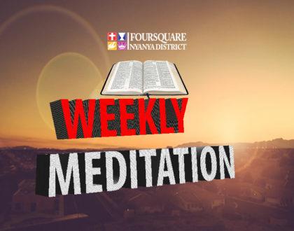 29:07:2018 Weekly Meditation