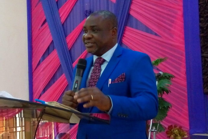 Rev. Babatunde preaching on Emerging Fruit