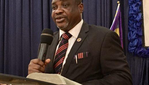 Rev. Ademola Babatunde preaching