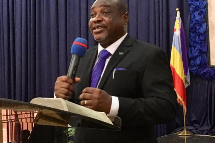 Rev. Ademola Babatunde preaching on Dominion Mandate